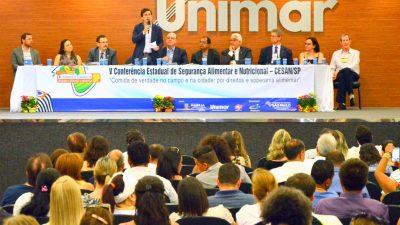 Arnaldo Jardim parabeniza Marília por sediar a Conferência Estadual de Segurança Alimentar