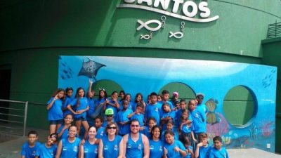 Alunos da Unidade Santa Antonieta do Pequeno Cidadão viajam para Santos