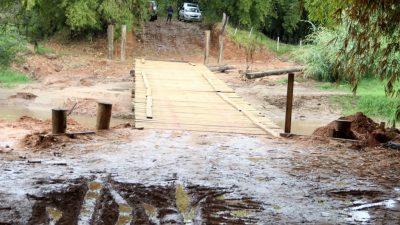 Prefeitura anuncia as pontes Vacaria e Primavera sobre o Rio do Peixe em Avencas