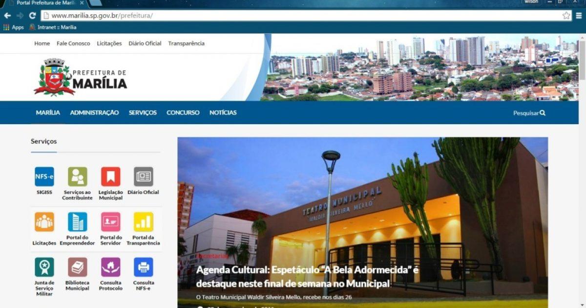 Informática: Prefeitura ganha novo portal de serviços e notícias