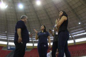 Secretário Municipal de Esportes e Lazer, Eduardo Nascimento, recebe organizadores do evento.