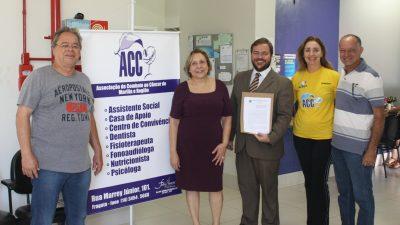 ACC assina parceria com a Saúde Municipal e abre caminho em Brasília