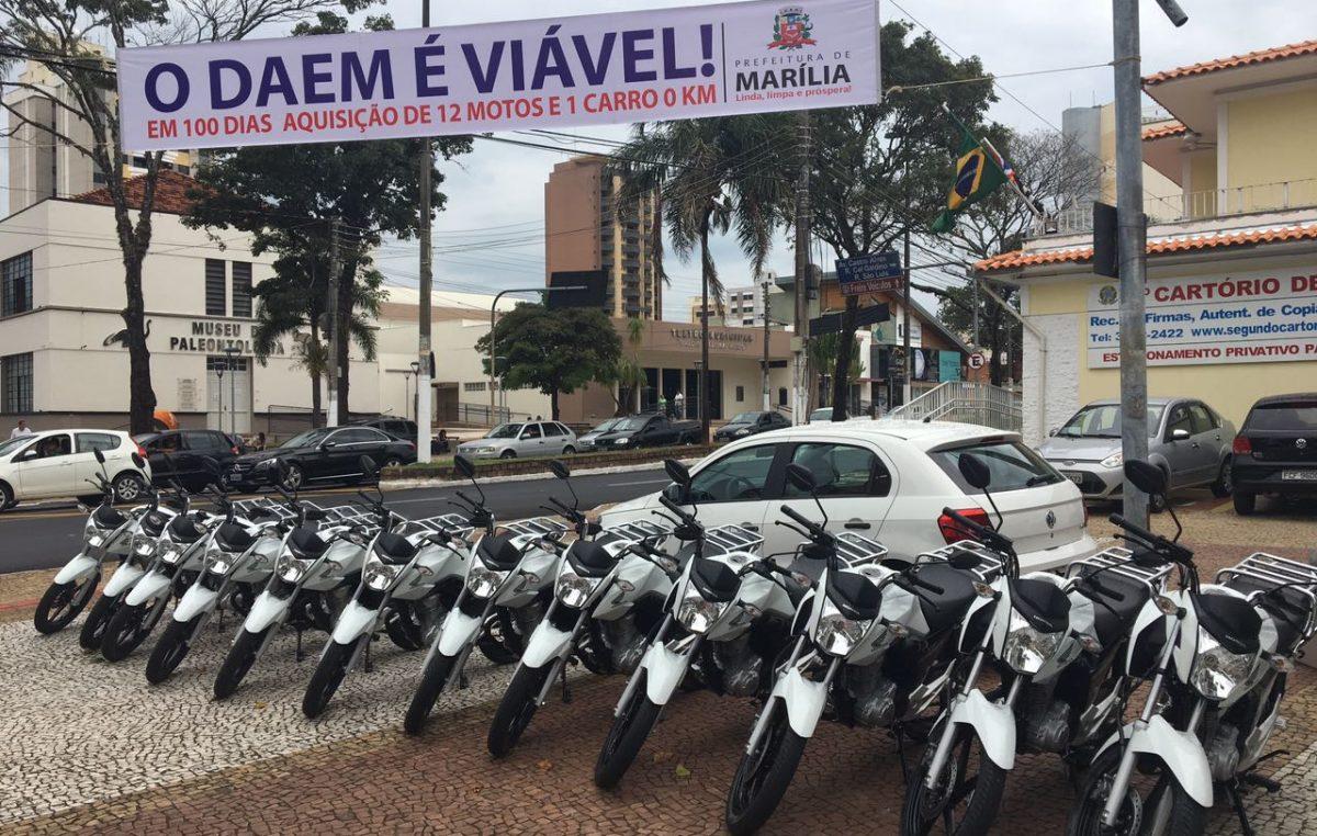 FROTA: DAEM compra 12 motos e 1 carro 0Km