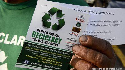 Prefeitura apoia Reciclart em coleta seletiva de lixo na cidade