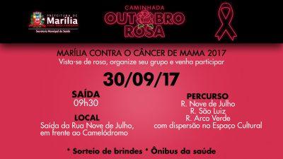 Movimento Outubro Rosa sai às ruas neste sábado; população está convidada para caminhada