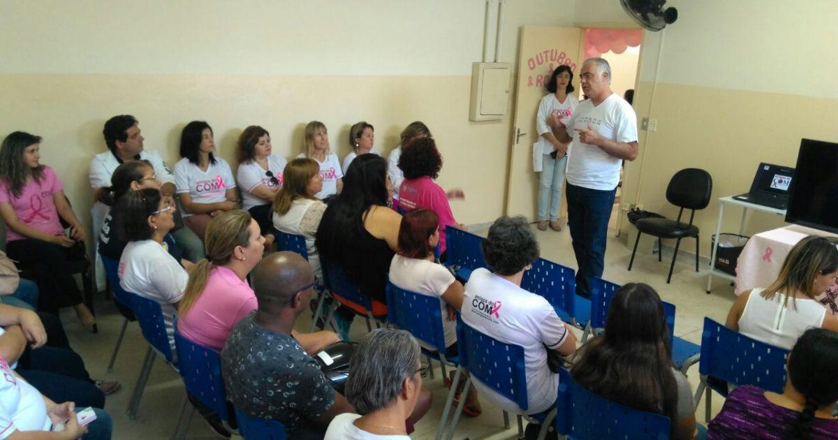 UBS recebe médico e pacientes em palestra sobre câncer de mama; diagnóstico e tratamento salvam vidas