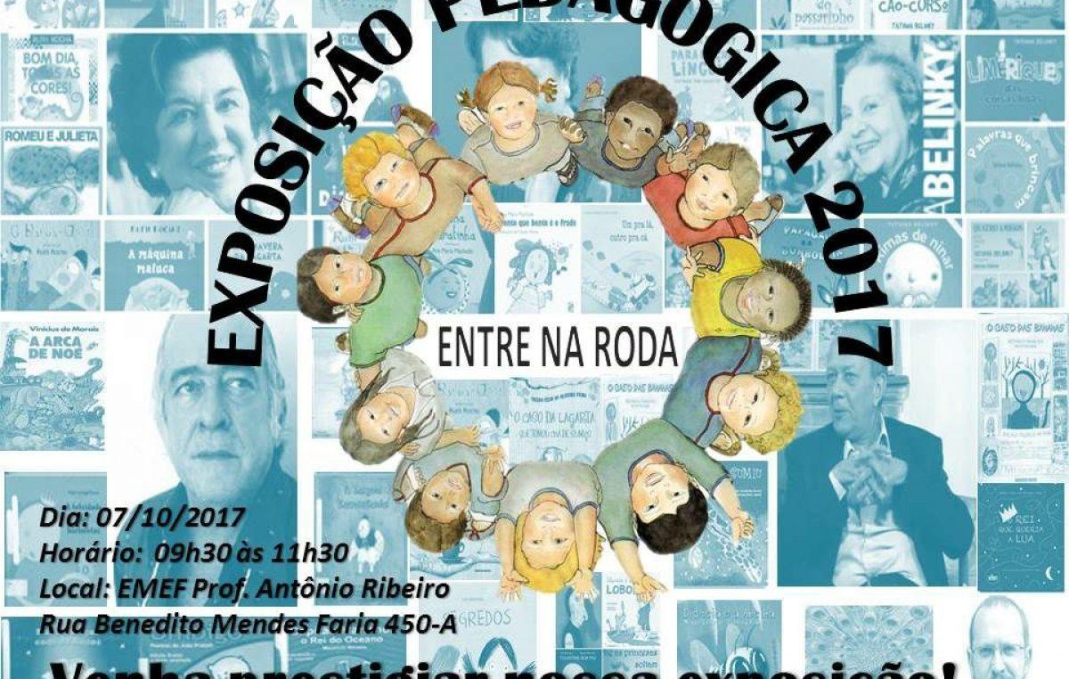 Emef Antonio Ribeiro realiza exposição pedagógica