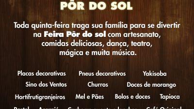 10 Anos de Feirinha do Pôr do Sol, prestigiem e compartilhem o que Marília tem de melhor!