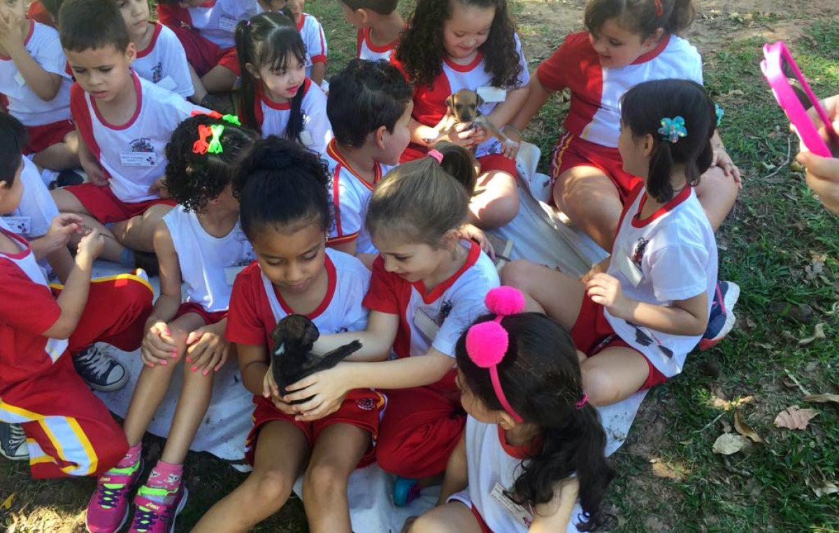 Crianças recebem orientações sobre leishmaniose e posse responsável de animais