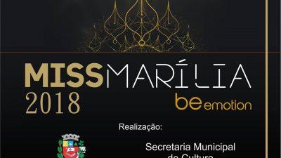 Secretaria da Cultura abre inscrições para o concurso Miss Marília 2018
