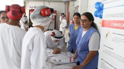 Saúde leva informação sobre Leishmaniose aos trabalhadores do setor industrial