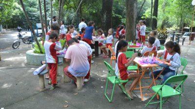 Semana da Água reúne cerca de 1.500 alunos no Bosque Municipal
