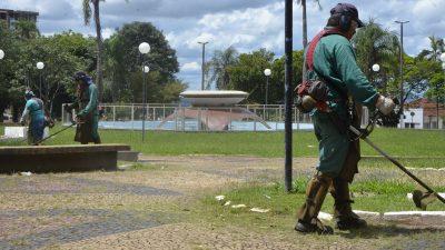 Prefeitura divulga relatório de serviços de  capinação e pintura de guias no mês de abril