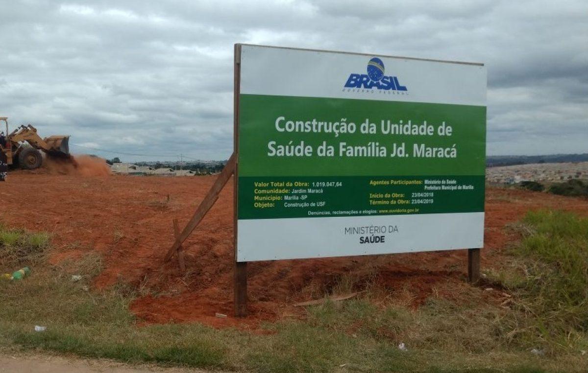 Prefeitura dá início à construção das USFs Maracá e Palmital