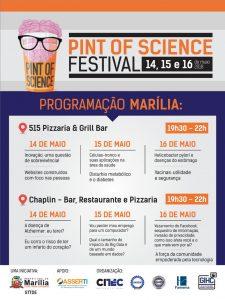 Marília recebe pela primeira vez o Festival Pint Of Science até quarta
