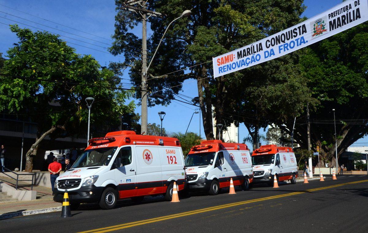 SAMU: Marília conquista renovação da frota